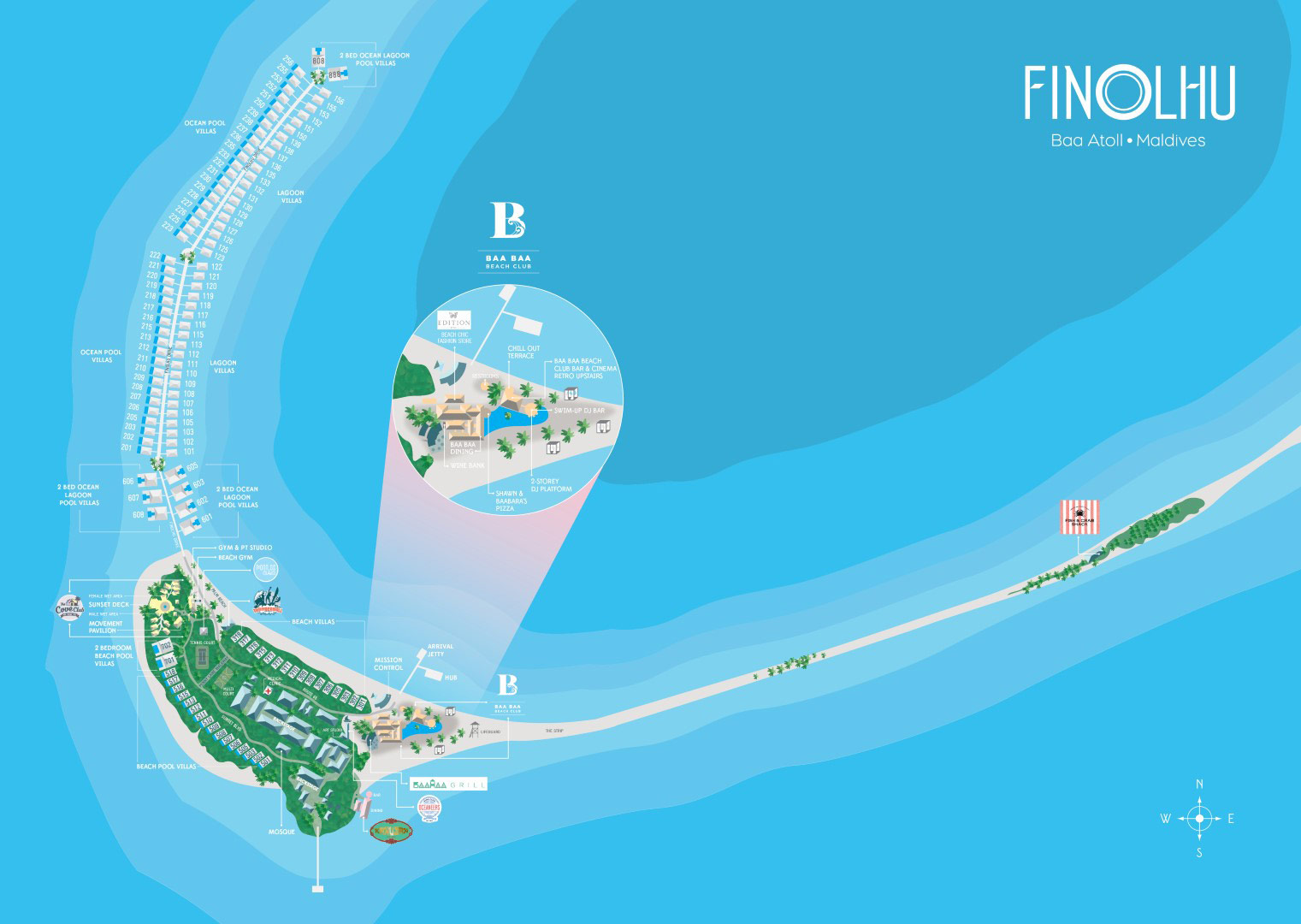 Lageplan Seaside Finolhu