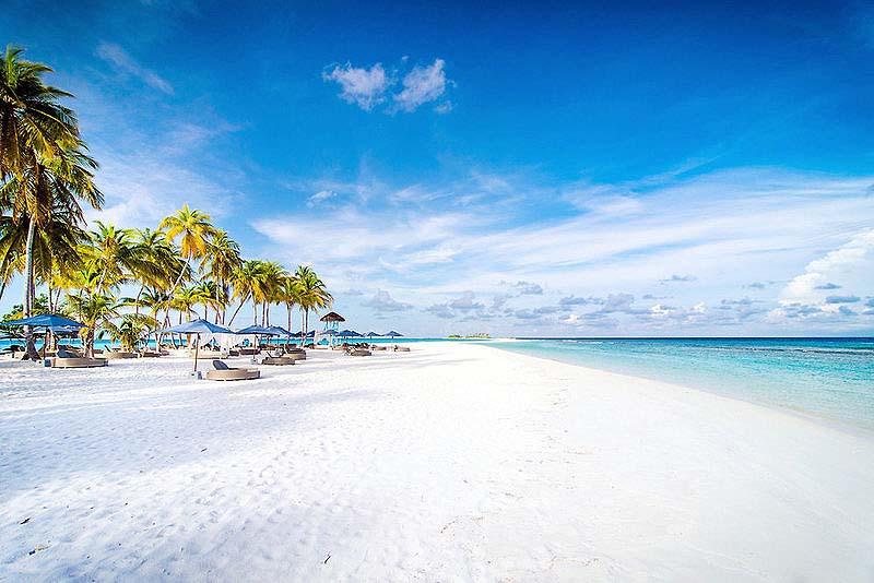 Weisser Sandstrand, Finolhu, Malediven