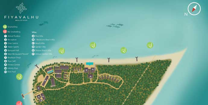 Lageplan Fiyavalhu Maldives