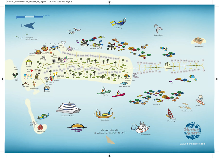 Lageplan Four Seasons Resort Maldives at Kuda Huraa
