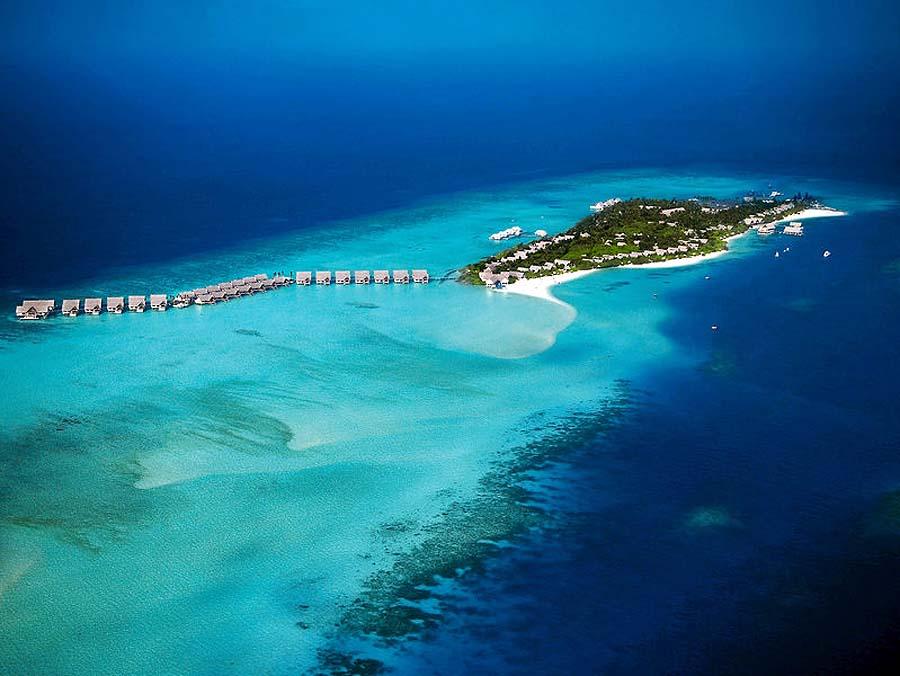 Vogelperspektive, Four Seasons Resort Maldives at Landaa Giraavaru