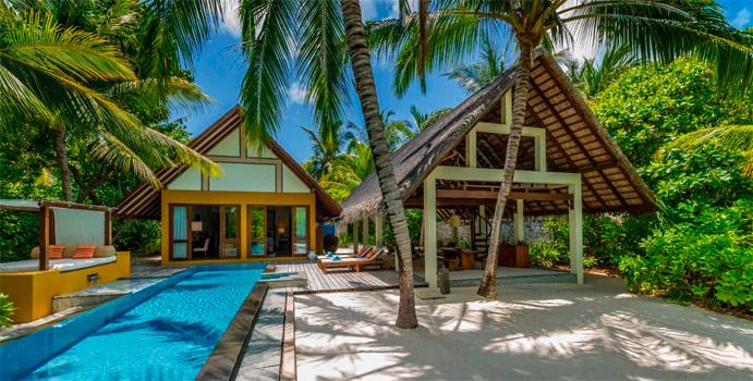 Family Beach Villa mit Pool, Four Seasons Resort Maldives