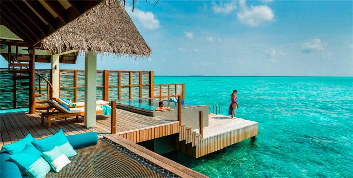 Sunset Water Villa mit Pool, Four Seasons Resort Maldives