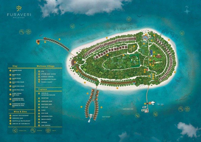 Lageplan Furaveri Maldives