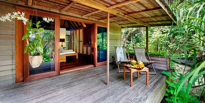 Terrasse, Family Garden Villa, Gangehi Island Resort