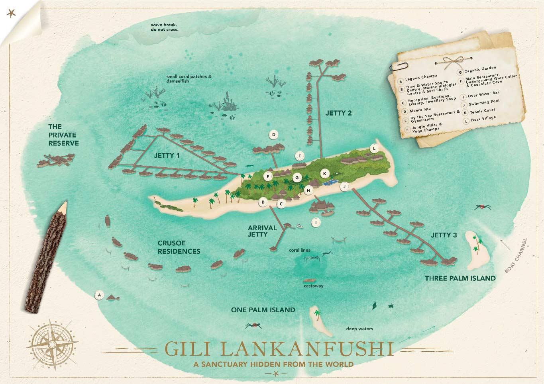 Lageplan Gili Lankanfushi