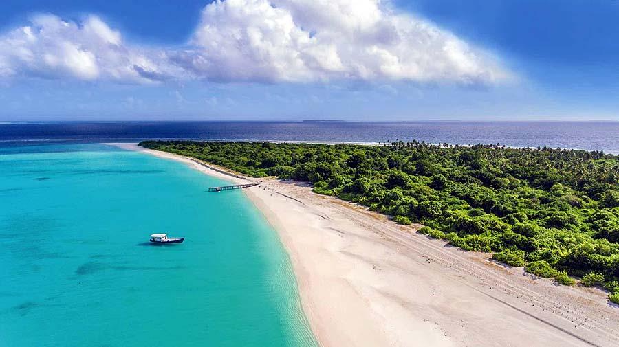 Luftaufnahme Strand, Hondaafushi Island Resort
