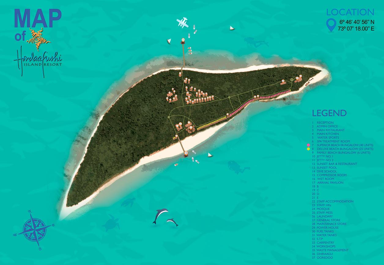 Lageplan Hondaafushi Island Resort