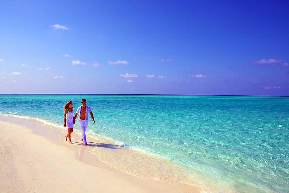 Strandspaziergang,Hurawalhi Island Resort, Maldives