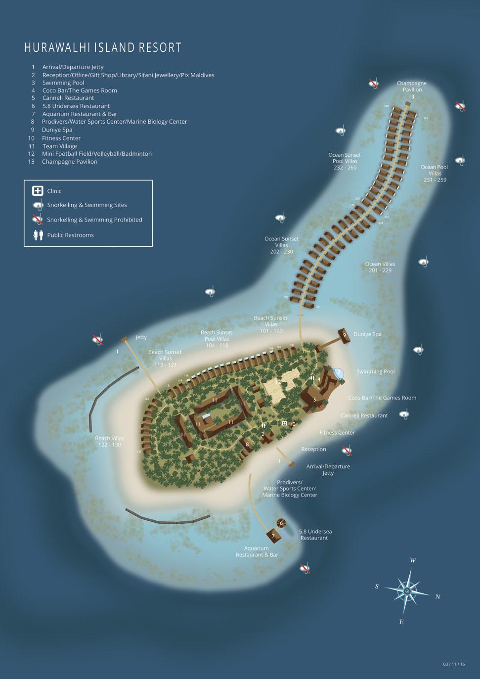 Lageplan Hurawalhi Island Resort