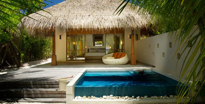 Deluxe Beach Bungalow with Pool, Huvafen Fushi Maldives