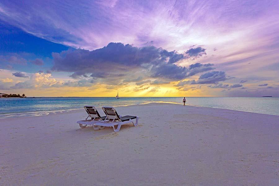 Sonnenuntergang, Innahura Maldives Resort