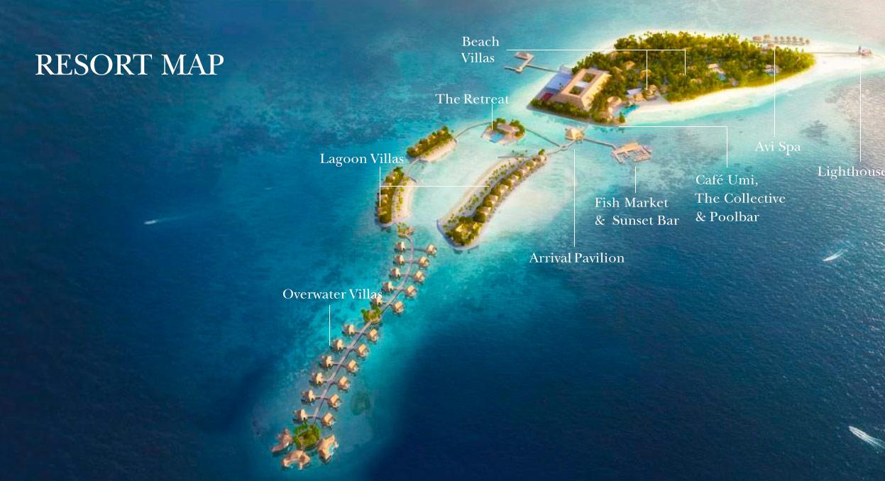 Lageplan InterContinental Maldives Maamunagau Resort