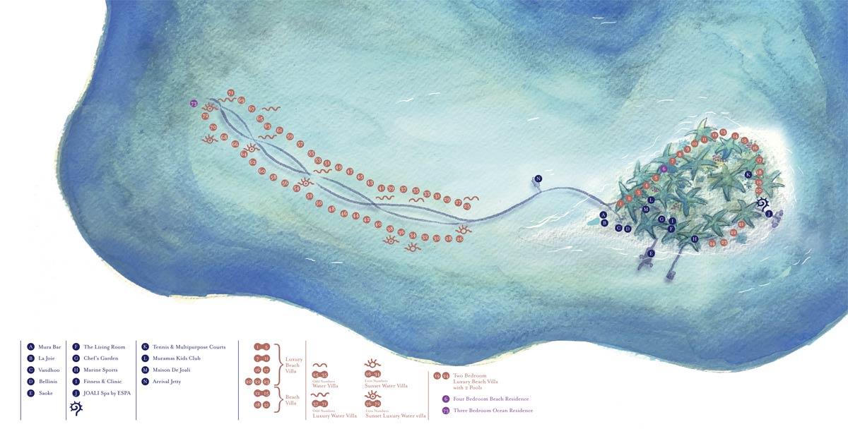 Lageplan JOALI Maldives