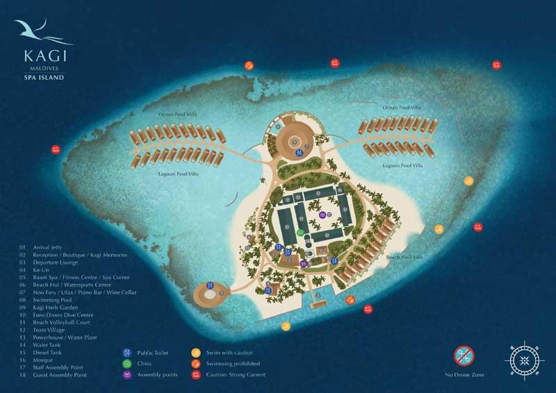 Lageplan Kagi Maldives SPA Island