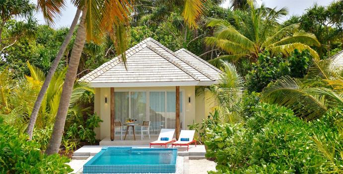 Beach Pool Villa mit Jacuzzi, Kandima Maldives