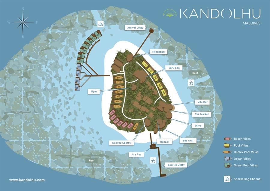 Lageplan Kandolhu Maldives