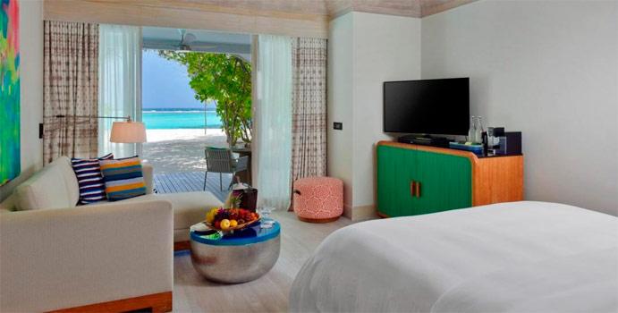 Wohnen, Beach Bungalow, Kanuhura Maldives