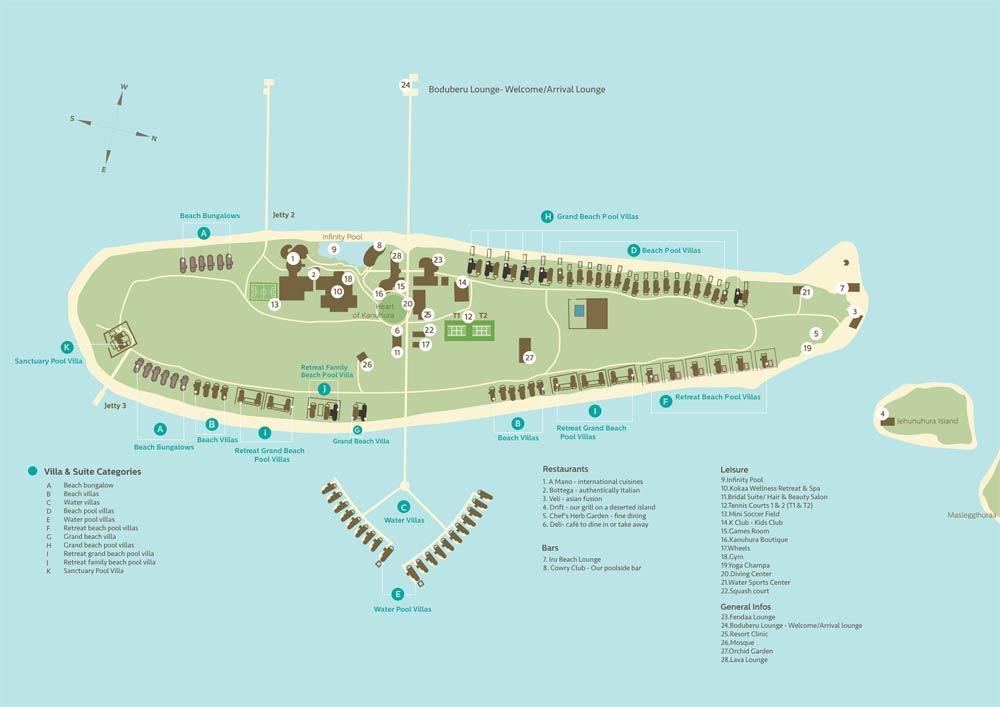 Lageplan Kanuhura Maldives