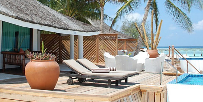 Waterfront Beach Villa with Private Pool, Kihaa Maldives