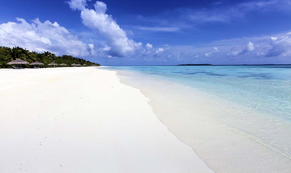 weißer Traumstrand, Kihaa Maldives