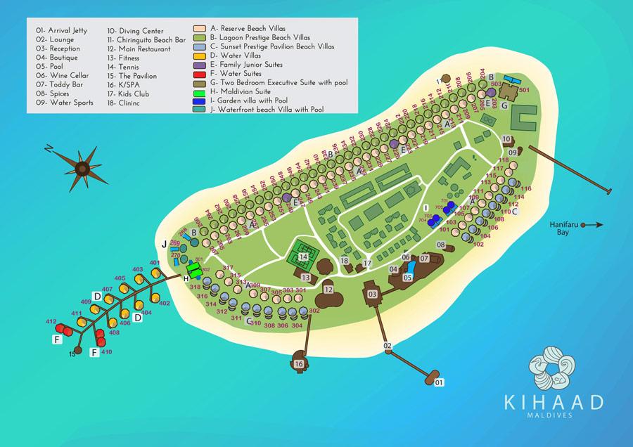 Lageplan Kihaa Maldives