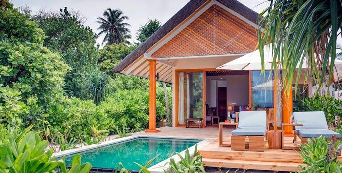 Beach Villa with Pool, Kudafushi Resort & Spa