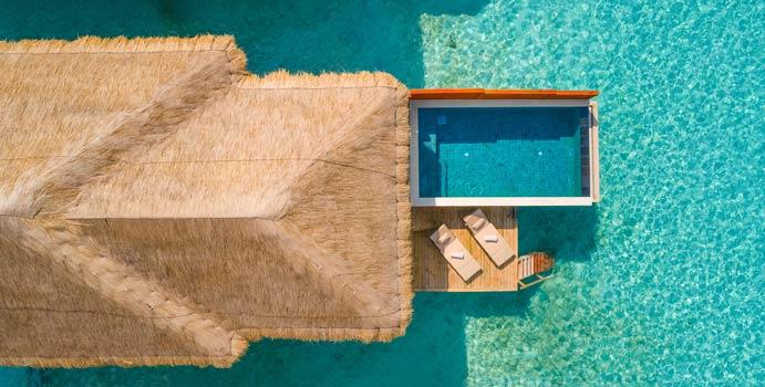 Luftaufnahme, Water Villa with Pool, Kudafushi Resort & Spa
