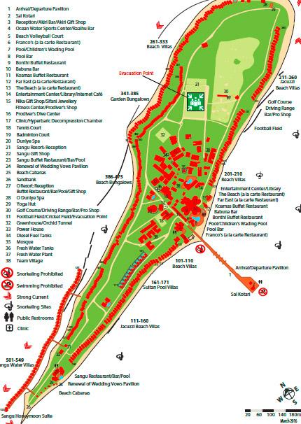 Lageplan Kuredu Island Resort