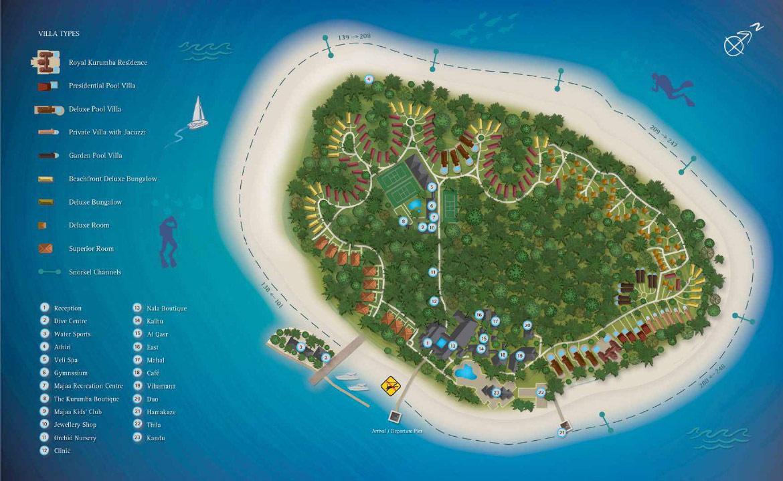 Lageplan Kurumba Maldives