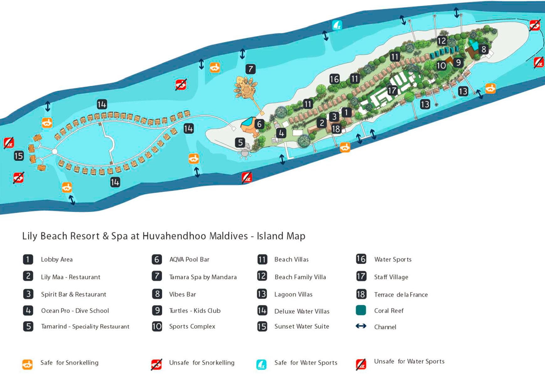 Lageplan Lily Beach Resort & Spa