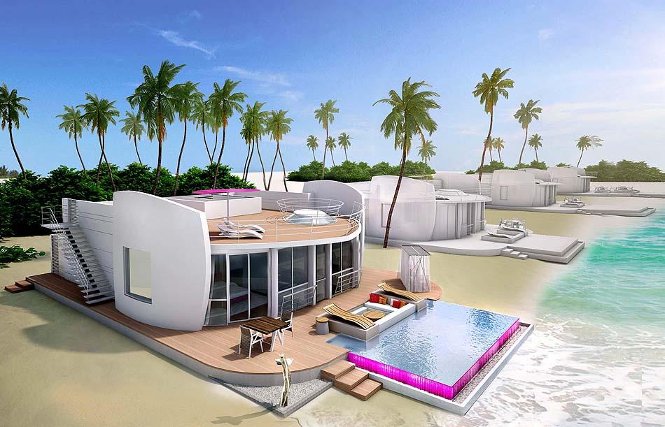 Beach Villa, Aussenansicht, LUX* North Male Atoll, Malediven