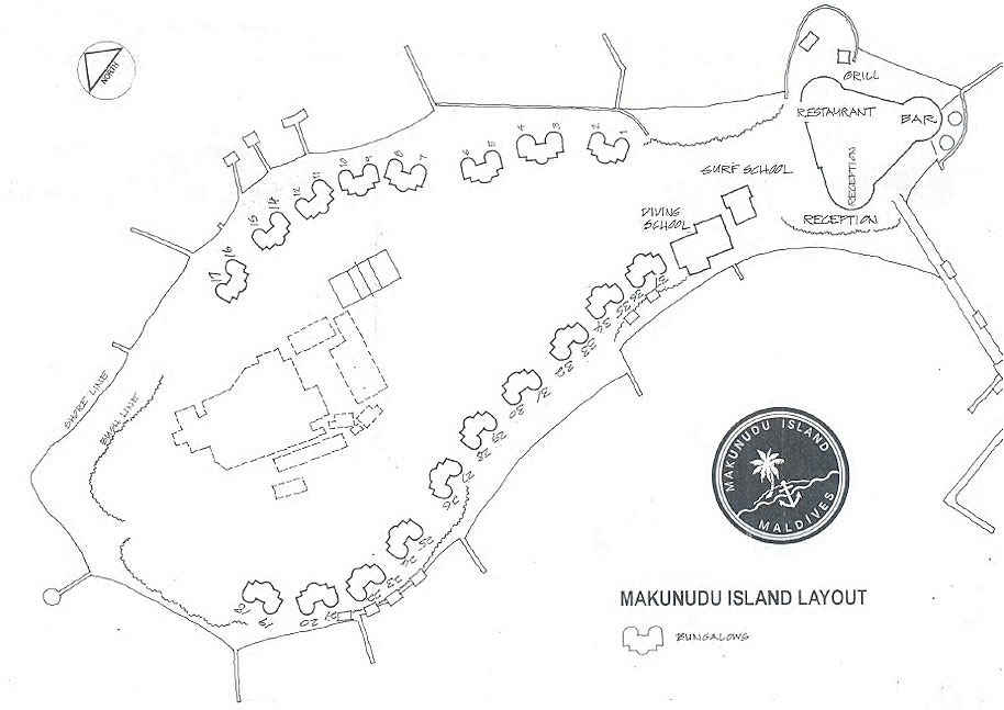 Lageplan Makunudu Island Resort