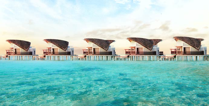 Steg, Overwater Pool Villa, JW Marriott Maldives