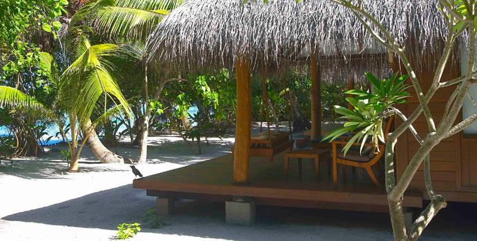 Terrasse, Beach Villa, Medhufushi Island Resort