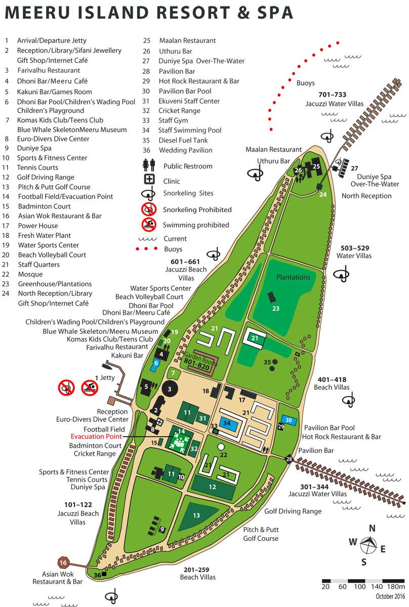 Lageplan Meeru Island Resort