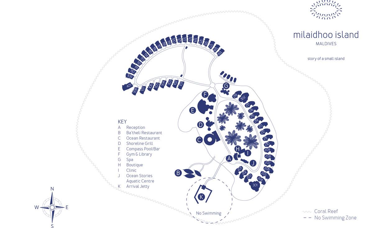 Lageplan Milaidhoo Island