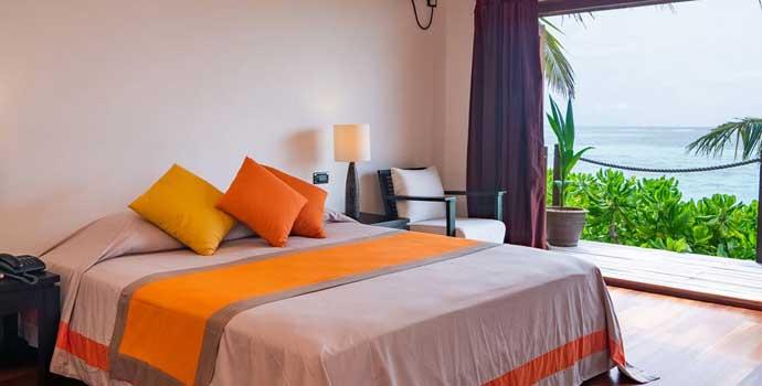Schlafzimmer, Mirihi Maa Beach Suite, Mirihi Island Resort