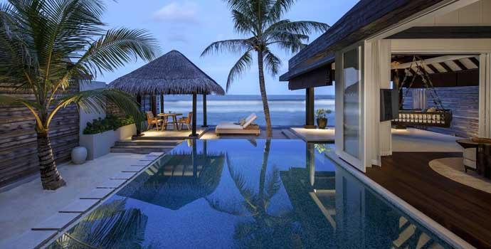 Beach House with Pool, Naladhu Private Island Maldives