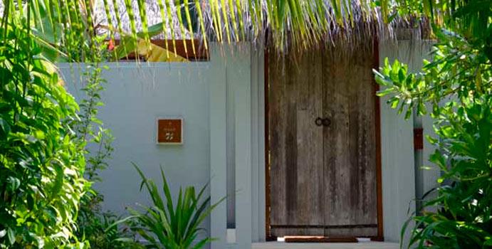Eingang Ocean Pool Villa, Naladhu Maldives