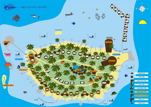 Lageplan Nika Island Resort & Spa