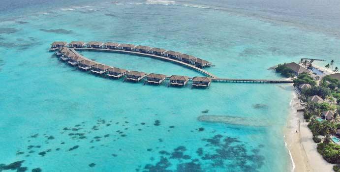 Drohnenaufnahme, Water Villa, Noku Maldives