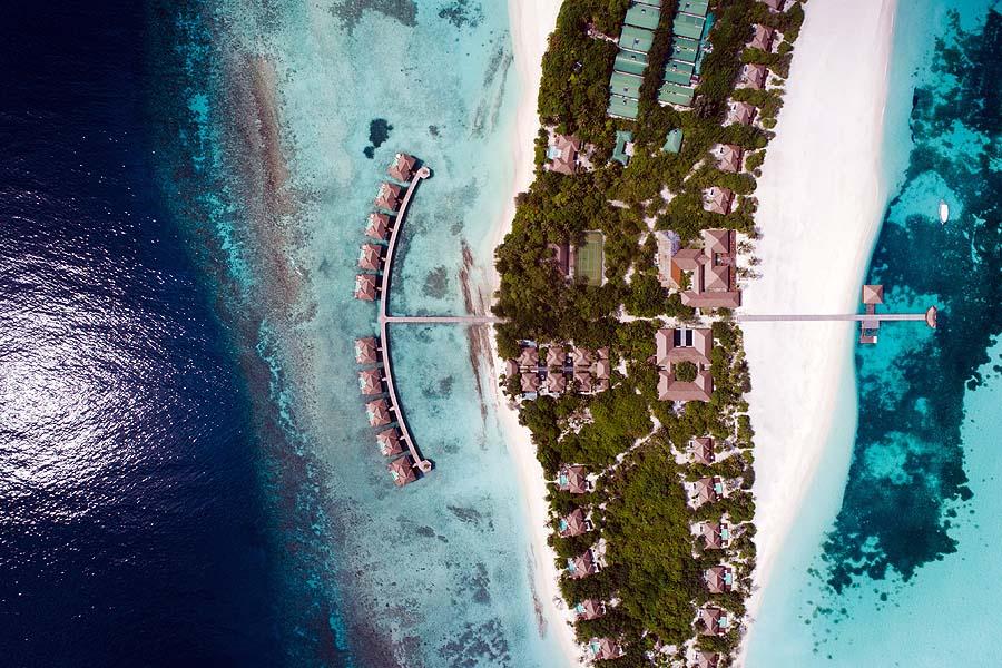 Drohnenfoto Insel, Noku Maldives