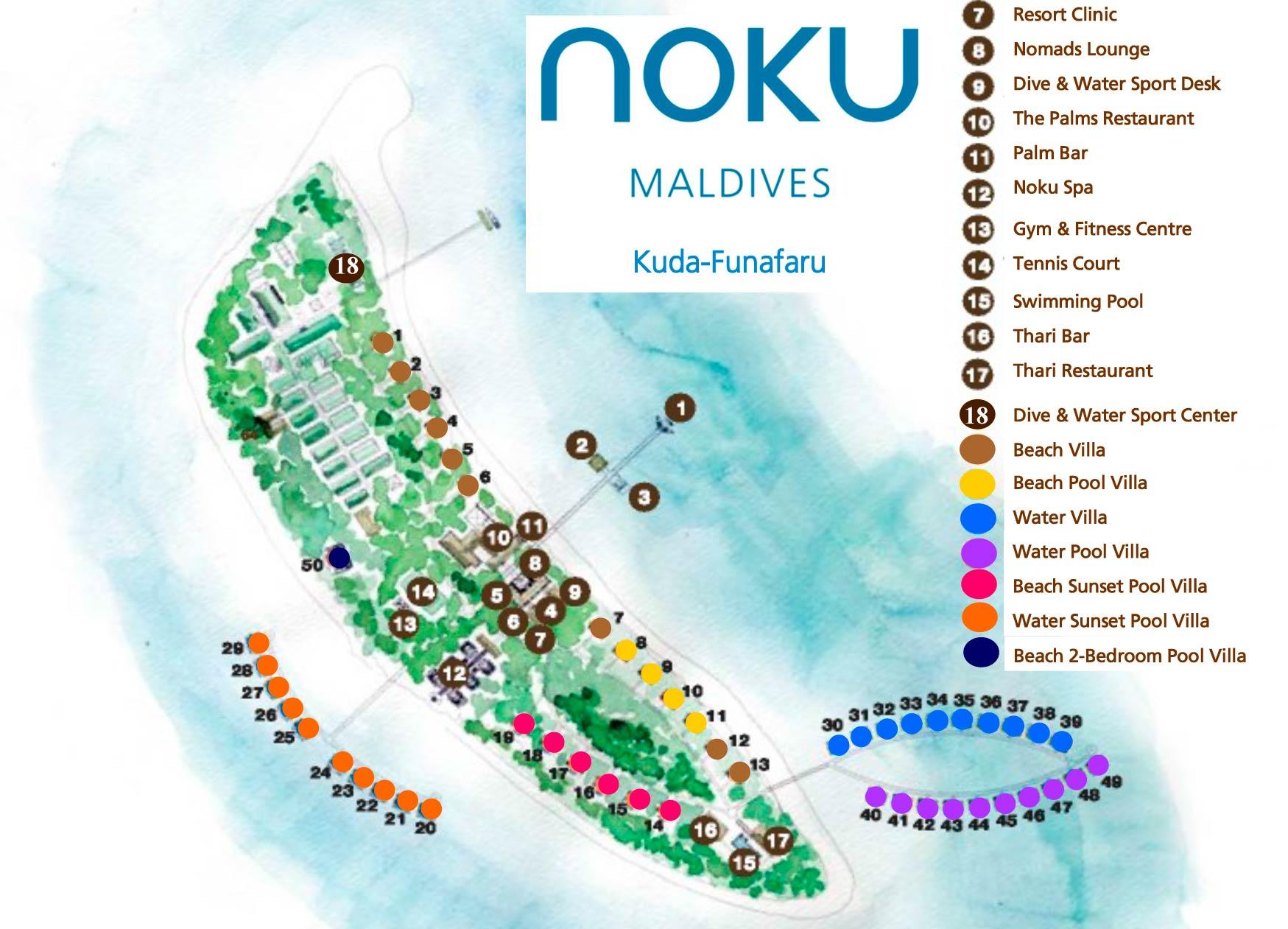 Lageplan Noku Maldives