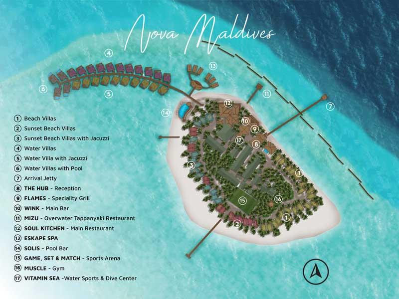 Lageplan Nova Maldives