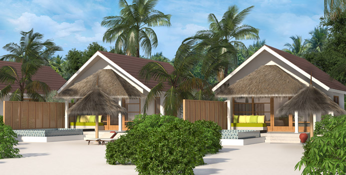 Deluxe Beach Villa with Pool, OBLU SELECT at Sangeli Maldives