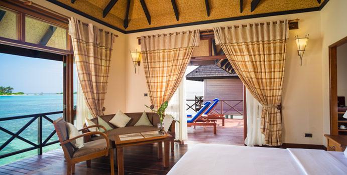 Wohnen und Schlafen, Deluxe Water Villa, Olhuveli Beach & SPA Resort