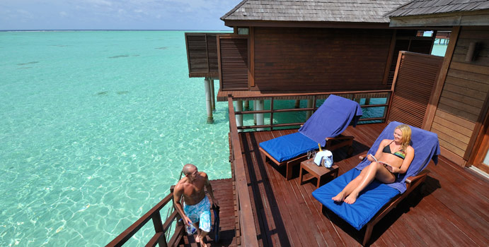 Terrasse, Jacuzzi Water Villa, Olhuveli Beach & SPA Resort