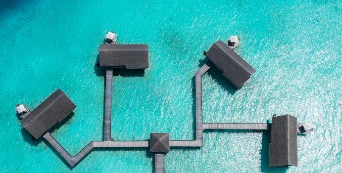 Luftaufnahme, Water Villa, One & Only Reethi Rah