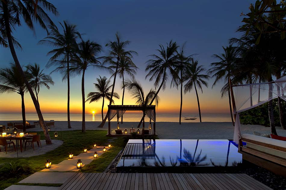 Grand Sunset Residence, Terrase, Privatpool, Sonnenuntergang, One & Only Reethi Rah, Maldives